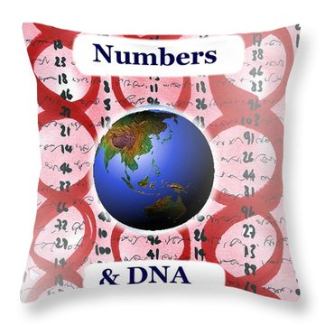 Numbers And Dna Throw Pillow