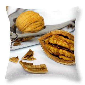 Nut Cracker Throw Pillow by Carlos Caetano
