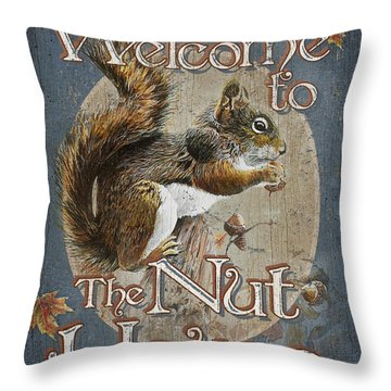 Nut House Throw Pillow by JQ Licensing