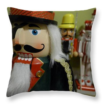 Nutcracker I Throw Pillow by Richard Reeve