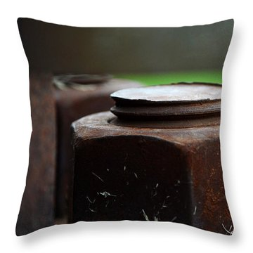 Nuts And Bolts Throw Pillow by Lisa Phillips