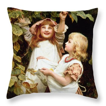 Nutting Throw Pillow by Frederick Morgan