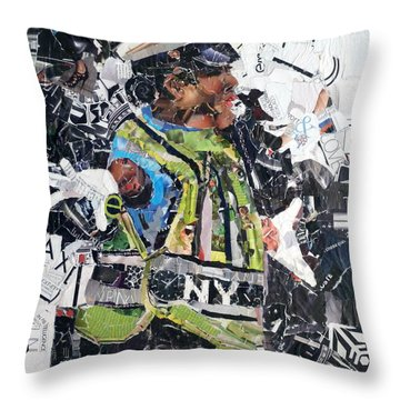 Ny Policewoman Throw Pillow by Suzy Pal Powell