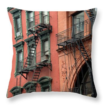 Nyc Building Throw Pillow