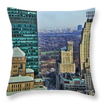 Nyc Central Park Throw Pillow by Edward Sobuta