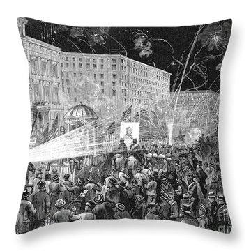 Nyc: Democrat Parade, 1876 Throw Pillow by Granger