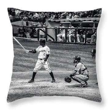 Nyjer Morgan Throw Pillow by CJ Schmit