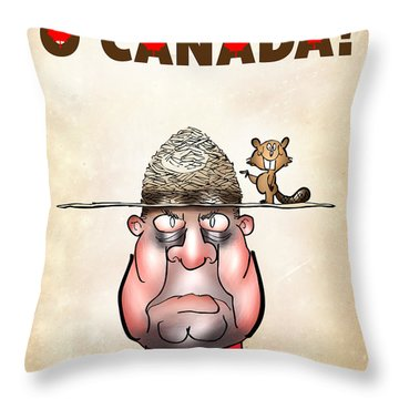 O Canada Throw Pillow