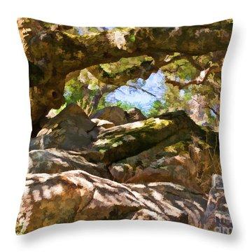 Oak Canopy Throw Pillow