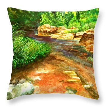 Oak Creek Red Throw Pillow
