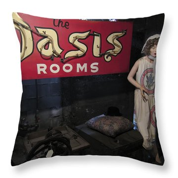 Oasis Bordello Basement - Wallace Idaho Throw Pillow by Daniel Hagerman
