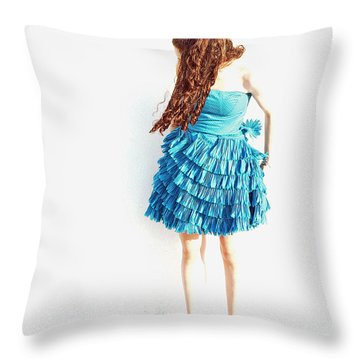 Obscured Throw Pillow by Lisa Phillips