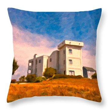 Observation Tower 1 Throw Pillow by Betsy Knapp