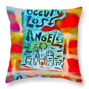 Occupy Los Angeles Throw Pillow by Tony B Conscious