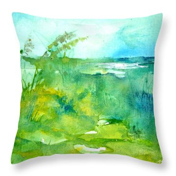 Ocean And Shore Throw Pillow