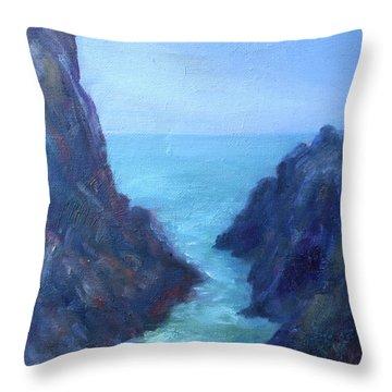 Ocean Chasm Throw Pillow