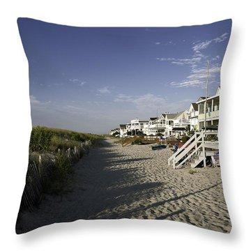 Throw Pillow featuring the photograph Ocean City Nj Sun Rise by Paul Plaine