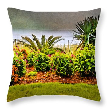 Throw Pillow featuring the digital art Ocean Garden by Mary Timman