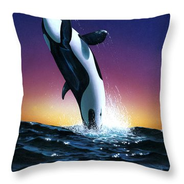 Ocean Leap Throw Pillow by MGL Studio - Chris Hiett