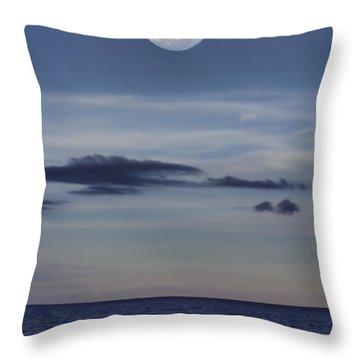 Ocean Moon Throw Pillow by Douglas Barnard