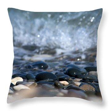 Ocean Stones Throw Pillow by Stelios Kleanthous