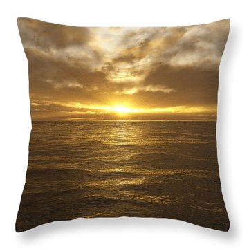 Ocean Sunset Throw Pillow by Mark Greenberg