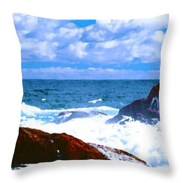 Ocean Surf Throw Pillow by Phill Petrovic
