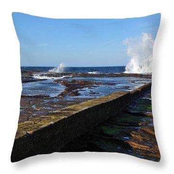 Ocean View Throw Pillow by Kaye Menner