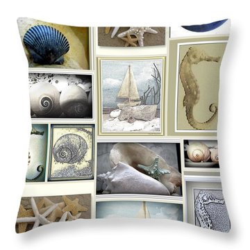Ocean Whispers Throw Pillow