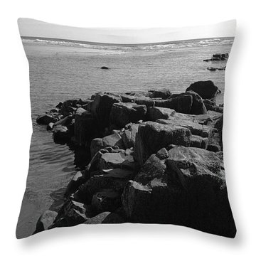 Throw Pillow featuring the photograph Oceanside Beach by Chriss Pagani