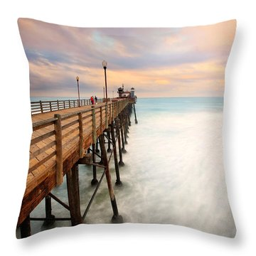 Oceanside Sunset 5 Throw Pillow