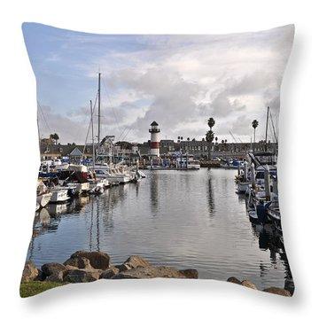 Oceaside Harbor Throw Pillow