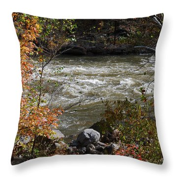 Throw Pillow featuring the photograph Ocoee River Rapids by Margaret Palmer
