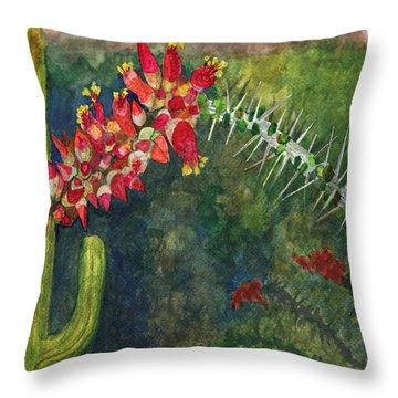 Ocotillo Spring Throw Pillow