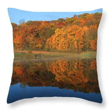 October Scene Throw Pillow by Karol Livote
