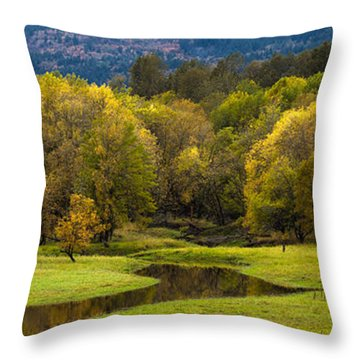 October Serenity Throw Pillow by Mike Reid