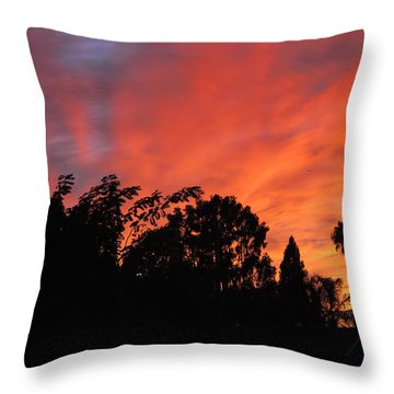October Sunset 10 Throw Pillow