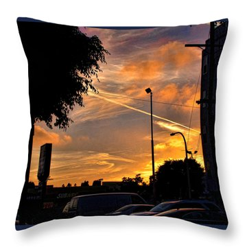 October Sunset 6 Throw Pillow