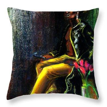 Odelisque Throw Pillow
