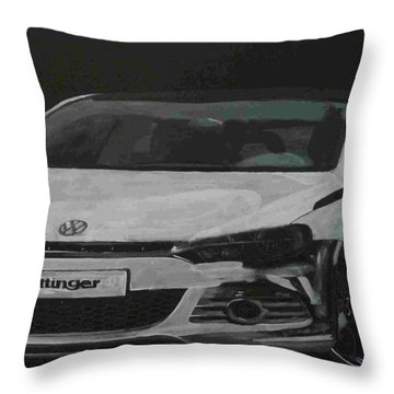 Throw Pillow featuring the painting Oettinger Vw Scirocco  by Richard Le Page