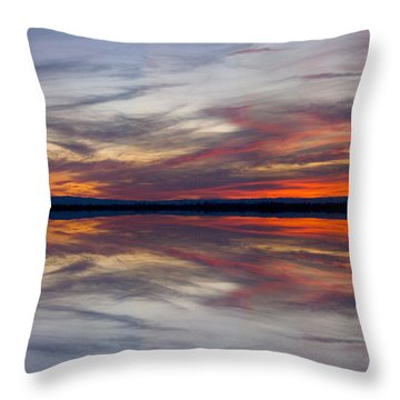 Off Highway 99 Throw Pillow by Mark Greenberg