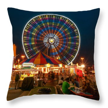 Off-midway Throw Pillow
