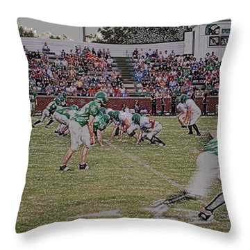 Off Sides Digital Art Throw Pillow by Thomas Woolworth