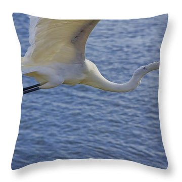 Off To The Nest Throw Pillow by Deborah Benoit