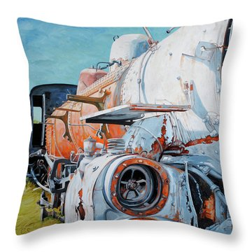 Off Track Throw Pillow