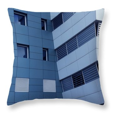 Office Building Throw Pillow by Carlos Caetano