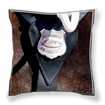Officer Griffin Throw Pillow by Danielle  Parent