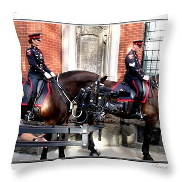 Officer Griffin On Chch Tv And  Cbc Throw Pillow by Danielle  Parent