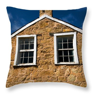Officers Quarters Throw Pillow by Travis Burgess