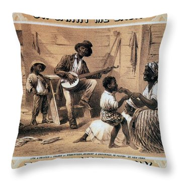 Oh Carry Me Back To Ole Virginny, 1859 Throw Pillow by Photo Researchers